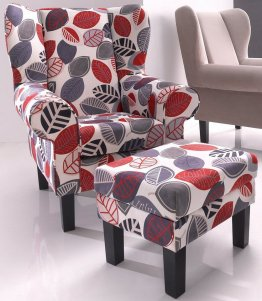 Ohrensessel, Atlantic Home Collection, mit Hocker